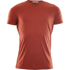 Aclima LightWool T-shirt à col en V Homme, red ochre